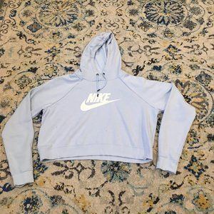 Baby Blue Nike Cropped Sweatshirt